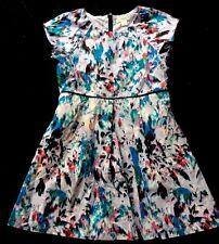 Girl 5 Crewcuts Back 2 School Sunday Watercolor Ribbon Trim Dress