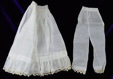 Antique Pantalets & Petticoat for Large Doll Victorian