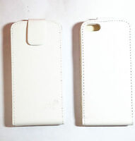 Flip Cover bumper Case custodia Per Apple iPhone 5 5S SE  BIANCA VERTICALE WHITE