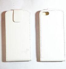 Flip Cover bumper Case custodia Per Apple iPhone 5 5S SE  BIANCA VERTICALE WHITE