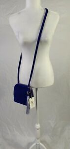 Hobo Suede Cross body Bag Vibrant Blue/Purple perfect for any Season
