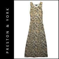 Preston York Women Sleeveless Cocktail Formal Casual Maxi Long Dress Size Large