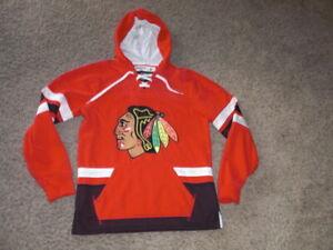CHICAGO BLACKHAWKS fully sewn Hockey jersey style Hoodie Sweatshirt men's Small