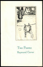 TWO POEMS by RAYMOND CARVER (1982) 1 of 100 COPIES SIGNED BY CARVER