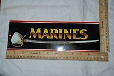 "Bumper Sticker ""Marines"" Dress Sword Background"