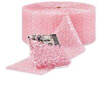 "1/2"" Large Bubble Cushioning Wrap Anti-Static Roll Padding 500' x 12"" Wide 500FT"