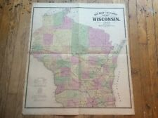 Map Wisconsin 1873 Atlas History Railroad