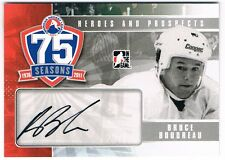 2010-11 ITG HEROES AND PROSPECTS AHL 75TH ANNIVERSARY AUTOGRAPH BRUCE BOUDREAU