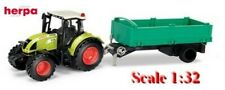 Tracteur agricole Claas Arion 540 + remorque benne - Herpa - Echelle 1/32