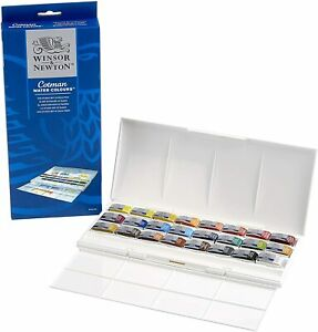 Winsor & Newton Cotman 24 Whole Pan Watercolour Studio Set