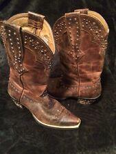 Ariat Rhinestone Cowgirl Women's 7B Brown Leather Western Boots 10006850 Pretty