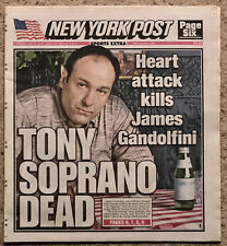 More details for tony soprano dead - new york post newspaper - james gandolfini - 20th june 2013