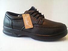 mens black dr keller comfy lace smart casual comfort walking shoes size 6/40