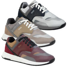 Hugo Boss Men'S Low-Top кроссовки из замшевой кожи, кроссовки, обувь, титановый код