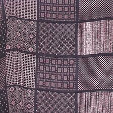 "Fabric Black pink pattern square Bohemian Geometric Dressmaking boho 96x56"" B40"
