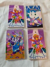 Lisa Frank Vintage Lot Of 4 Spiral Small Memo Pad 3 X 5 Notebooks 493 Lot