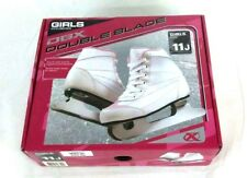 Dbx Girls 1000 Series Double Bladed Ice Skates Size 11J White