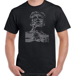 Unknown Pleasures T-Shirt Mens Joy Division Ian Curtis Album Art Unisex Top