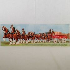 Vintage Budweiser by Anheuser-Busch in St. Louis, Mo Post Card Buy It Now!