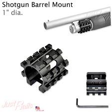 """Barrel Mount Rail for Shotgun - Aircraft Aluminum 1"""" Id Accessory Picatinny Tri"""