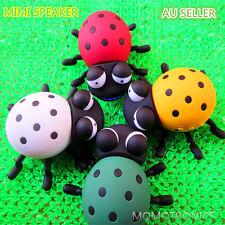 Cute Cartoon Mini beetle Ladybug Portable Powerful Fashion Speaker Rechargable