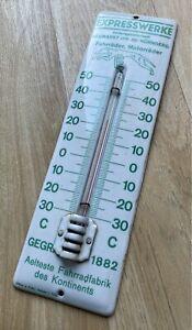 Emailschild Expresswerke 1930 Thermometer Windhund Schild Neumarkt Nürnberg