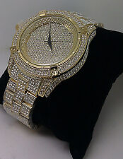 New Men's Yellow Gold Diamond Finish Watch. JoJo, Joe Rodeo, Johny