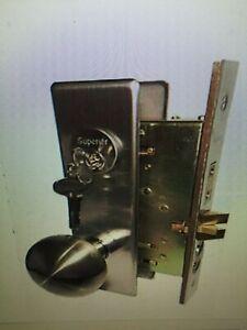 Maxtech Door Mortise Lock Lockset Satin Nickel Polished Brass Knob Style