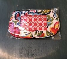 Vera Bradley HOPE GARDEN CLIP ZIP ID Coin CHANGE Key CASE for PURSE Tote BAG NWT