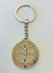 Keyring Of Round Shape With Religious Pattern In Both Face