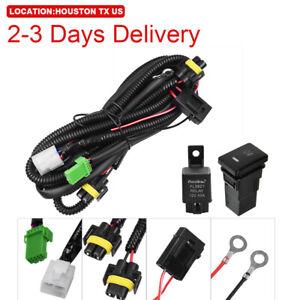 US Location Fog Light Wiring Harness Switch Kit 12V Fit Toyota Peugeot