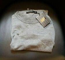Ermenegildo Zegna Maglione Jersey Sweater Shirt WOW 100% Lino Linen Grey 56 XXL
