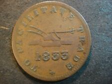 1833 Upper Canada Half Penny Token.. Plow & Ship. Good.