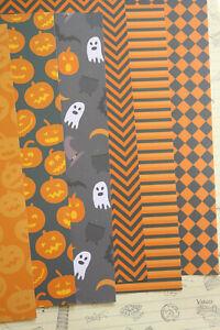 Halloween Patterns Card Stock 250gsm pumpkin ghost mix cardstock journaling card
