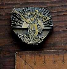 Triumph Cigaretten Prägestempel Messing Ornament Klischee Prägen Buchbinder