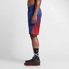 Nike Air Jordan Flight Victory Graphic Royal Blue Red Shorts Dri Fit 2XL NWT