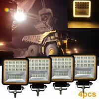 4X 840W LED Arbeitsscheinwerfer Offroad 3D Scheinwerfer Traktor Bagger LKW SUV