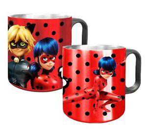 Miraculous Ladybug Stainless Steel Mug/Cup with plastic handle 10 x 8 cm