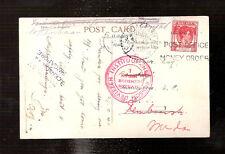 DEV1 Medan / Singapore - Netherlands Indies  Censored postcard 1940