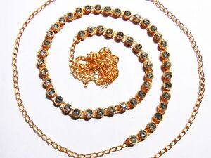 GoldPlated CZ Waist Belt Belly Dance Hip Chain Kamar Bandh Indian Bridal Jewelry