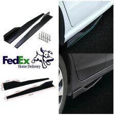 2Pcs 86cm Glossy Black Car Suv Side Skirt Rocker Splitters Winglet Diffuser Kit(Fits: Rabbit)