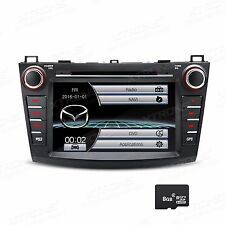 "8"" Touch Double 2Din DVD Player Car Radio Stereo GPS Navi Bluetooth For Mazda 3"