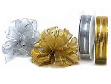 Ziehschleifen Sussifix Geschenkband 25m Rll Gold, Silber für Fertigscheifen