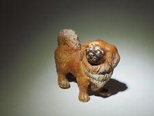 Antique putz Peke Pekingese dog composition nice dog with full tail