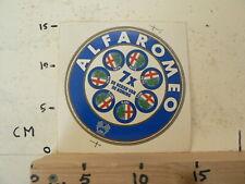 STICKER,DECAL ALFA ROMEO 7 X DE BEKER VAN DE KONIN 1970-1976 24UH FRANCORCHAMPS