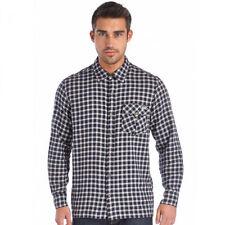 Cotton Blend Long Sleeve Regular 3XL Casual Shirts for Men
