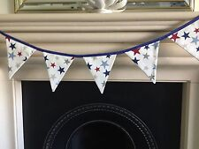 BUNTING JOHN LEWIS SHOOTING STARS BLUE TRIM 15 cm x 17  cm x 10 FLAGS