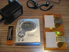Sharp mt 180 h MiniDisc MD grabador top Sound (975) + Philips pinganillo