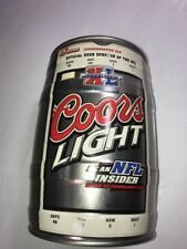 New listing Coors Light 1.3 Gal. Commemorative Can/Keg Nfl Superbowl 40 (empty) Rare