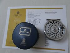 "V buona VINTAGE Hardy Marchese Nº 6 TROTE FLY FISHING REEL 3.25"" + VALIGETTA ecc."